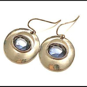 Blue silver dangle earrings